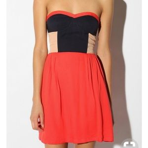 Urban Outfitters | Sparkle & Fade colorblock dress